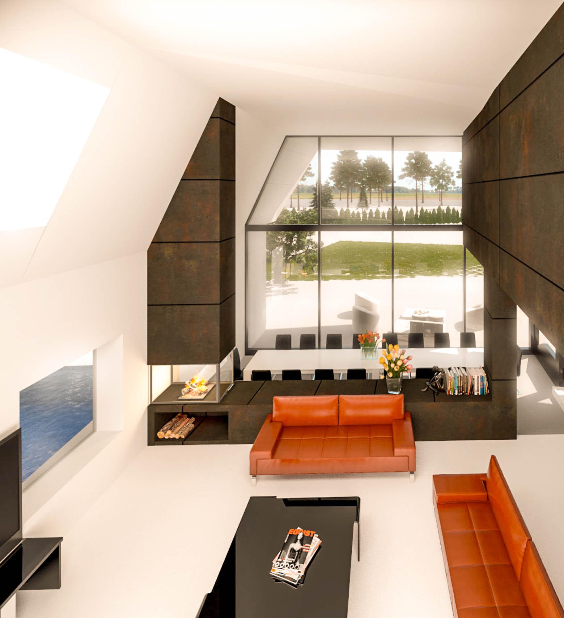 Interior proyecto de vivienda unfiamiliar